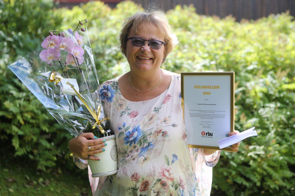 Susanne Ottosson Rösmark, glad pristagare av Guldrullen 2016