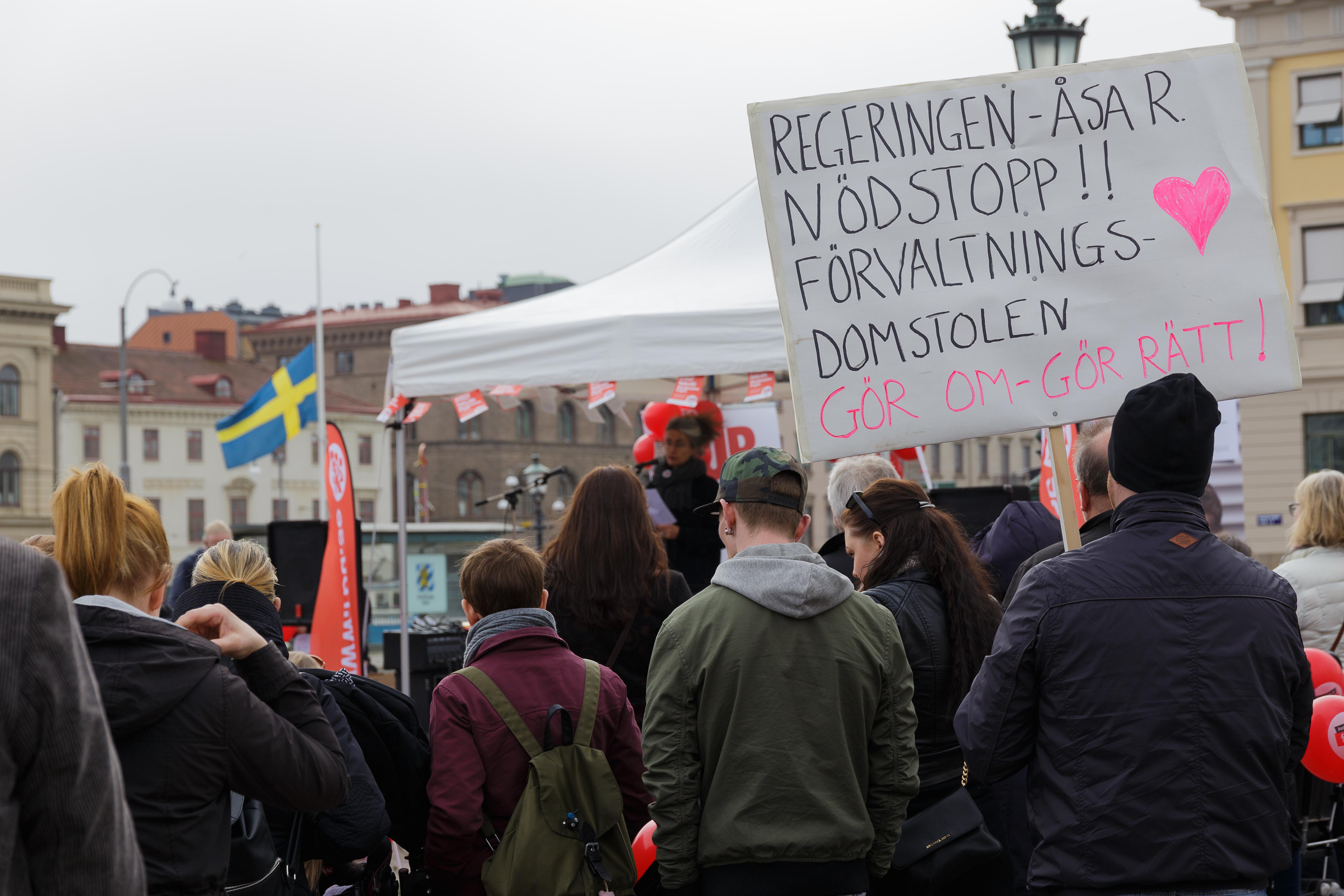 Manifestation Göteborg 8 april 2017. Foto: Jon Klarström