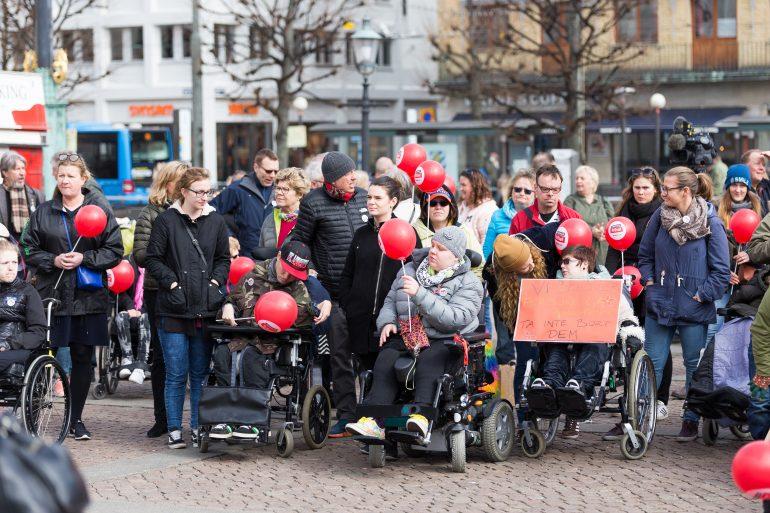 Mer än 200 personer deltog i manifestationen.