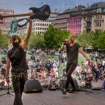 Artister på Kungsträdgårdens scen