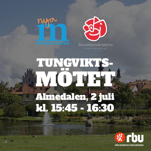Tungviktsmötet (Moderaterna och Socialdemokraterna), Almedalen 2 juli 15.45-16.30