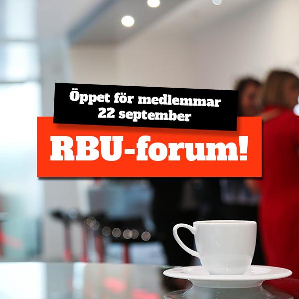 RBU-forum öppet för medlemmar 22 september