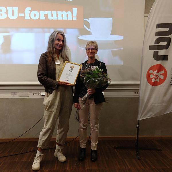 Ordförande Maria Persdotter tillsammans med Maria Norrman, RBU Halland