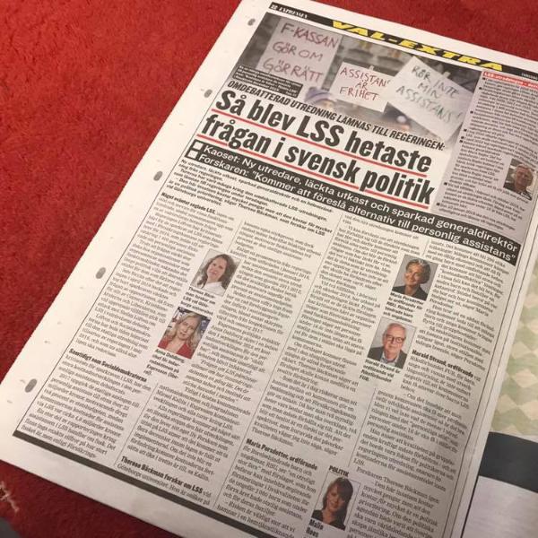Artikel i Expressen: Så blev LSS hetaste frågan i svensk politik