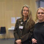 Maria Persdotter och socialminister Lena Hallengren