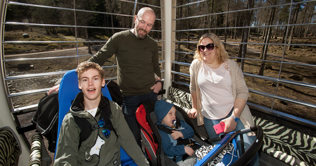 Hela familjen samlad: Malte, Rolle, Frank och Åsa Ytterberg.